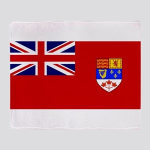 Flag of Canada 1957 - 1965 Throw Blanket